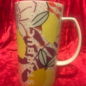 2015 Tall 16 Oz STARBUCKS Citrus Cup Mug EUC